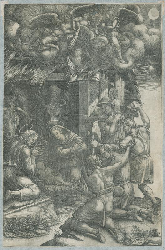 Giorgio Ghisi, Nemecký grafik GMF z 2. polovice 17. storočia - Klaňanie pastierov