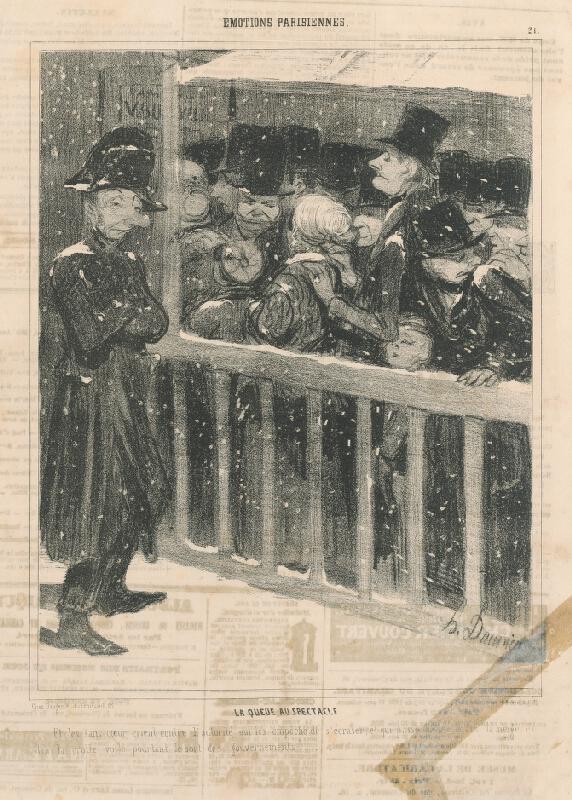 Honoré Daumier - Fronta na predstavenie