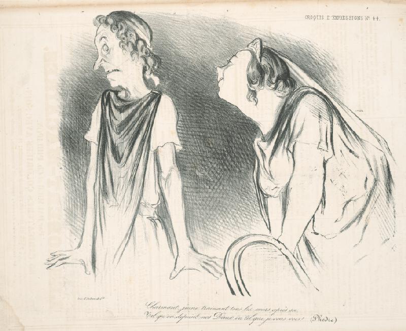 Honoré Daumier - Milenci