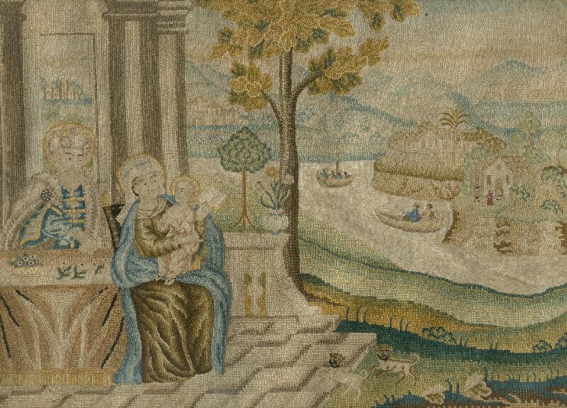 Stredoeurópsky vyšívač z prelomu 16. - 17. storočia - Svätá rodina