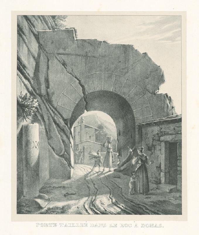 Baron de Malzen - Brána tesaná do skaly v Donnas