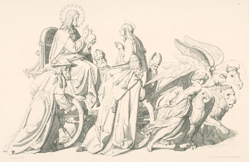 Alois Petrák, Joseph von Führich - Alegória s Máriou,Kristom a štyrmi evanjelistami