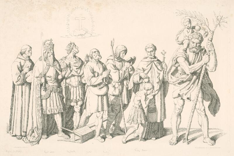 Alois Petrák, Joseph von  Führich - Svätí
