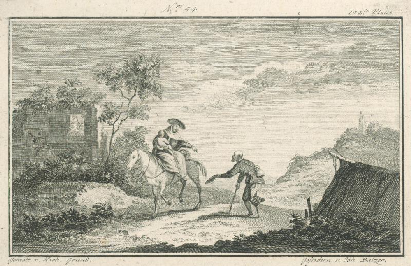 Norbert Joseph Carl Grund, Jan Jiří Balzer - Pocestná so žobrákom