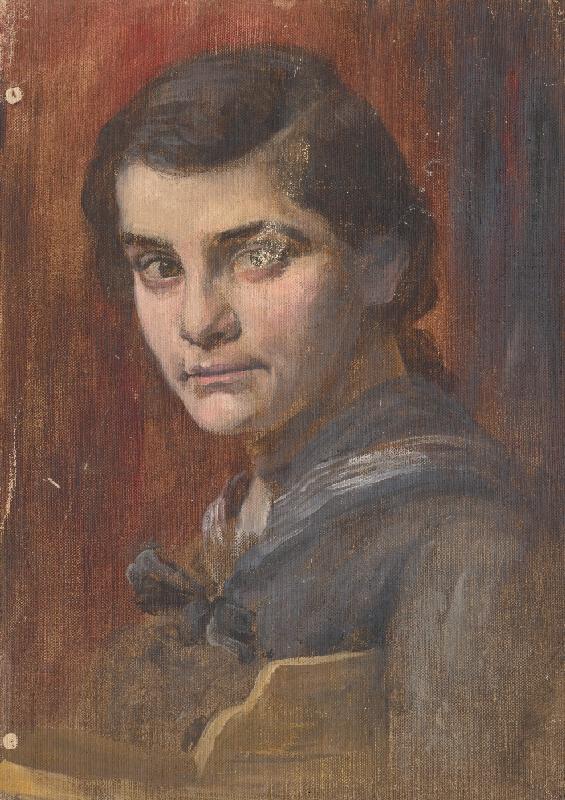 Aurel Ballo - Štúdia hlavy mladej ženy