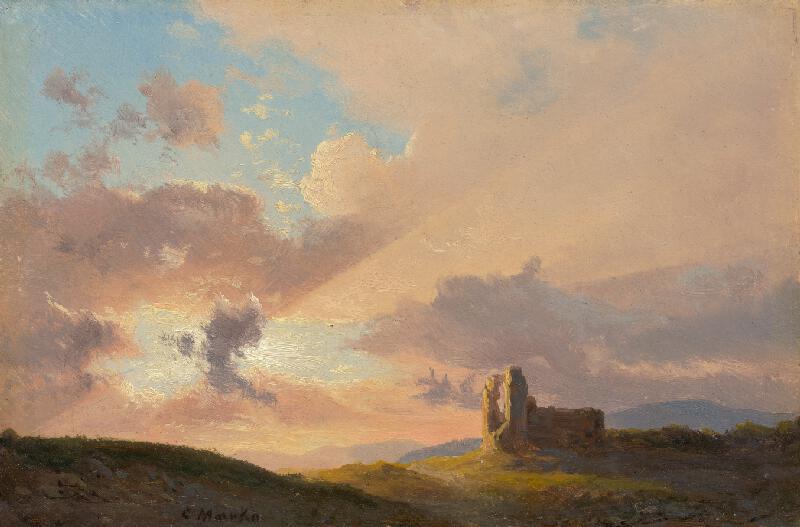 Karol Marko st. - Ruina pri západe slnka