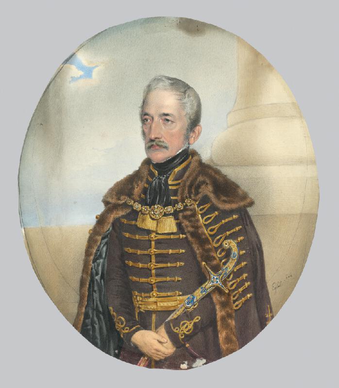 Franz Eybl - Podobizeň šľachtica s mečom