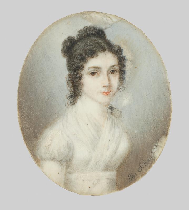 Stredoeurópsky miniaturista zo začiatku 19. storočia - Podobizeň Márie Sturmanovej-Szirmay