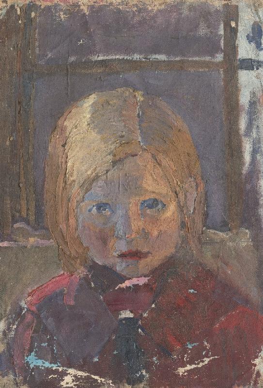 Frida Konstantin - Štúdia hlavy dievčatka