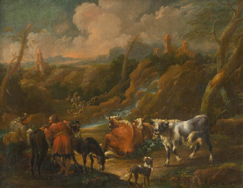 Philipp Peter Roos, Talianský maliar zo začiatku 18. storočia - Stádo pri antickej studni