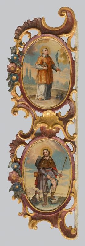 Slovenský maliar a rezbár z 2. polovice 18. storočia, Neznámy autor - Oltár mučeníkov Sv.Štefana a Sv.Rochusa