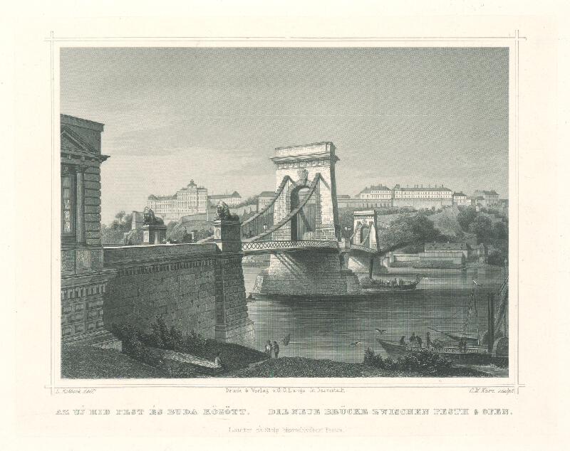 Ludwig Rohbock, Georg Michael Kurz - Nový most medzi Budínom a Pešťou