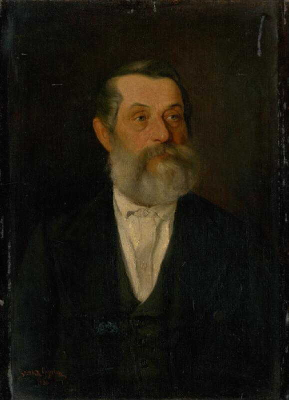 Július Štetka - Podobizeň starého pána so sivou bradou