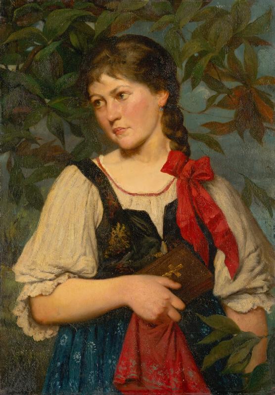 Kornel Spányik - Dievča v kroji