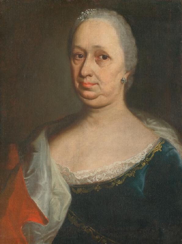 Slovenský maliar z konca 18. storočia, Neznámy maliar - Podobizeň dámy so striebornými náušnicami