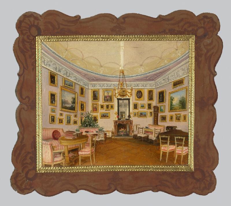 Stredoeurópsky maliar z 1. polovice 19. storočia - Zámocký interiér
