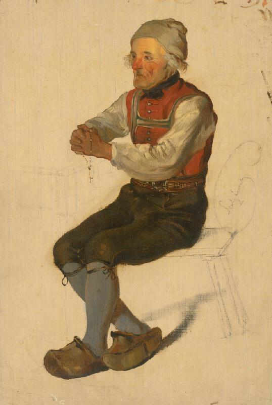Friedrich Carl von Scheidlin - Štúdia sediaceho sedliaka