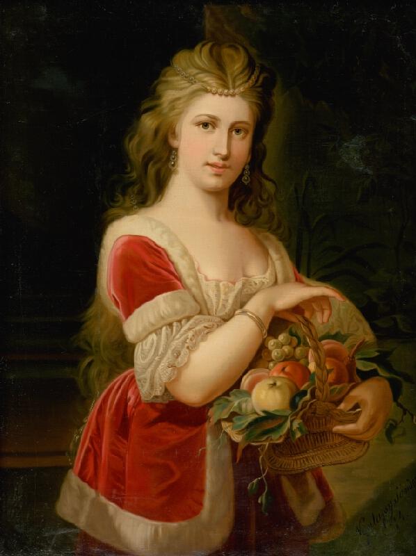 Alexander Nyulassy - Mladá žena s ovocím