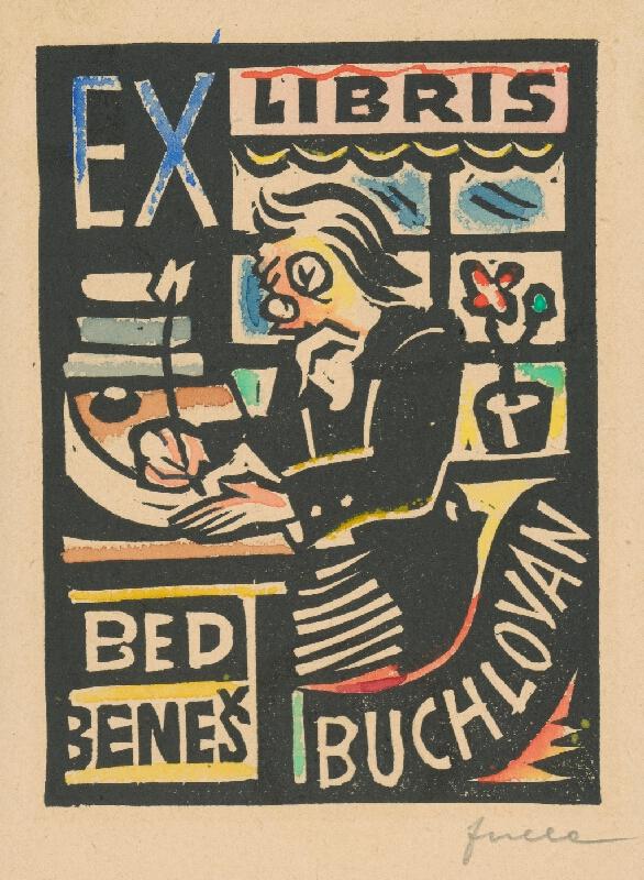 Ľudovít Fulla - Ex libris Bed.Beneš Buchlovan