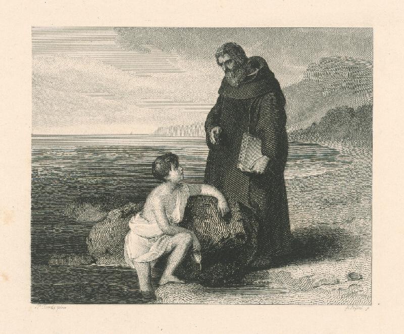 Peter Fendi, J. Palsini, Johann Nepomuk Passini - Dieťa a mních