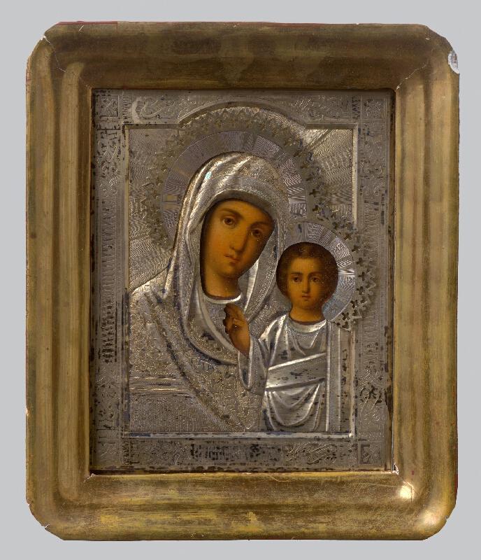 Ruský ikonopisec - Bohorodička s dieťaťom - Hodegetria Kazaňská
