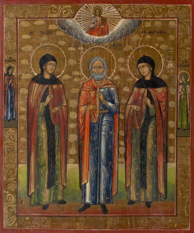 Ruský ikonopisec - Traja svätci - ikona