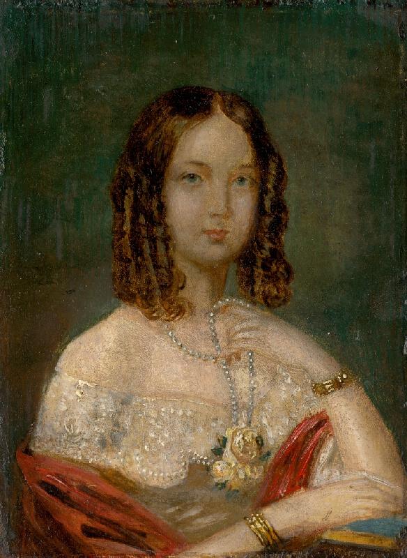 Stredoeurópsky maliar z 1. polovice 19. storočia - Podobizeň dievčaťa s náhrdelníkom