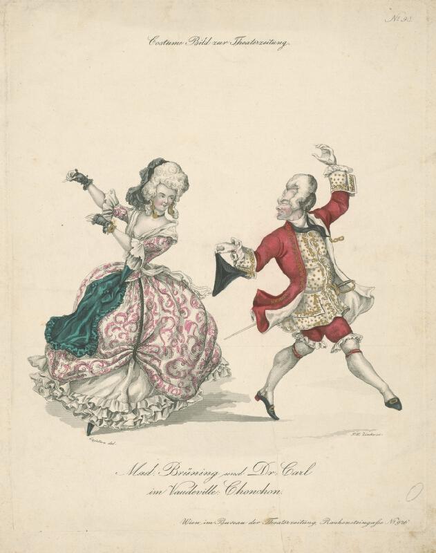 Johann Wenzel Zinke, Josef Cajetan - Divadelný kostým