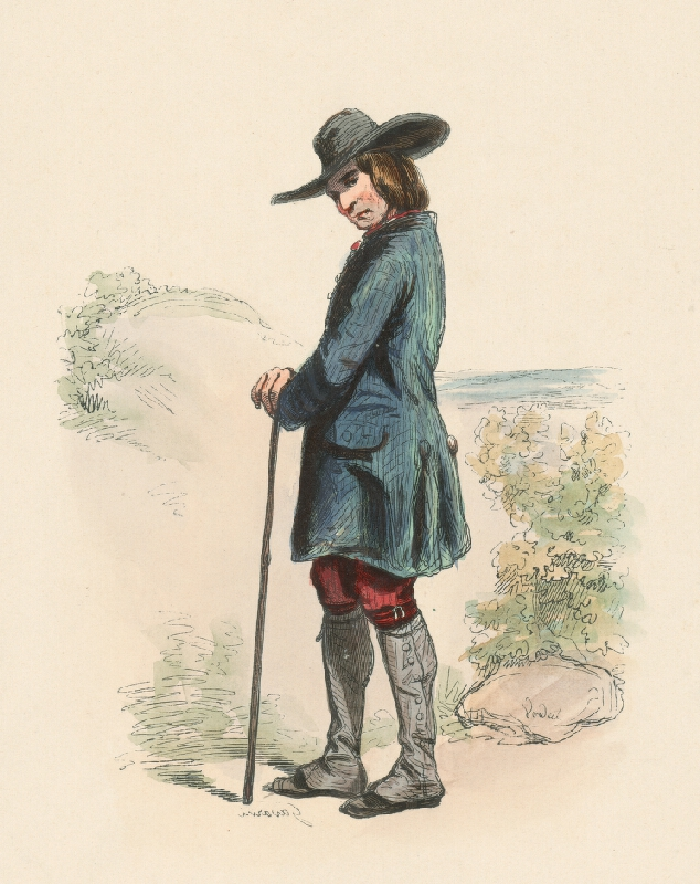Paul Gavarni, Pierre Verdeil - Dedinčan v klobúku