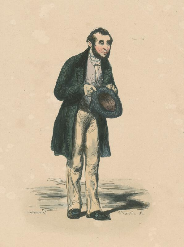 Paul Gavarni - Úslužný muž s cylindrom