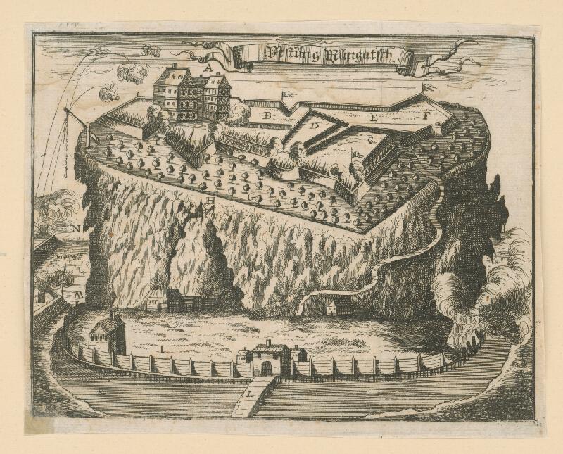 Nicolas de Fer - Pevnosť Mukačevo