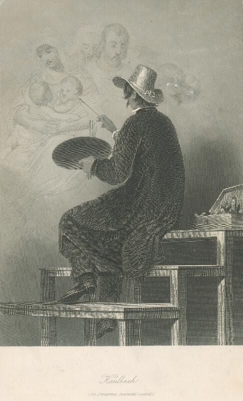Albert Henry Payne - Kaulbach maľujúci
