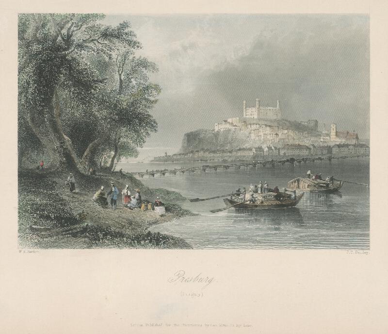 William Henry Bartlett, Joseph Clayton Bentley - Pohľad na Bratislavu