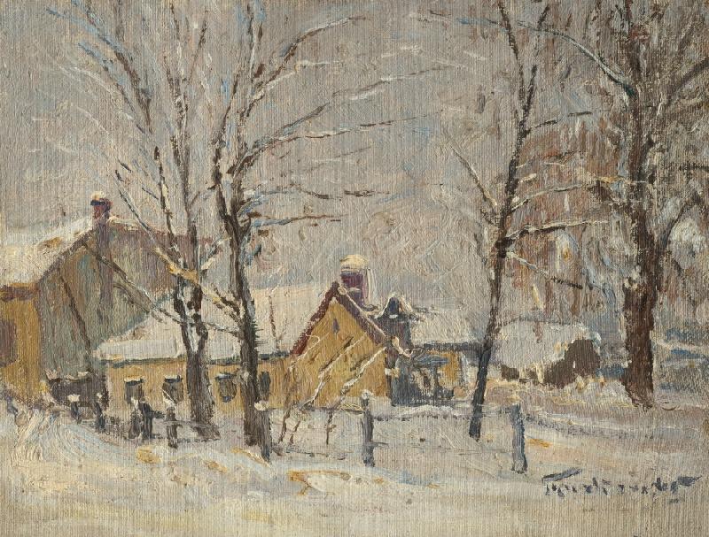 František Gyurkovits - Zimný motív z Lučenca