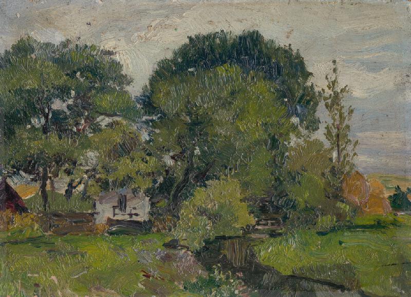 František Gyurkovits - Krajina so stromami