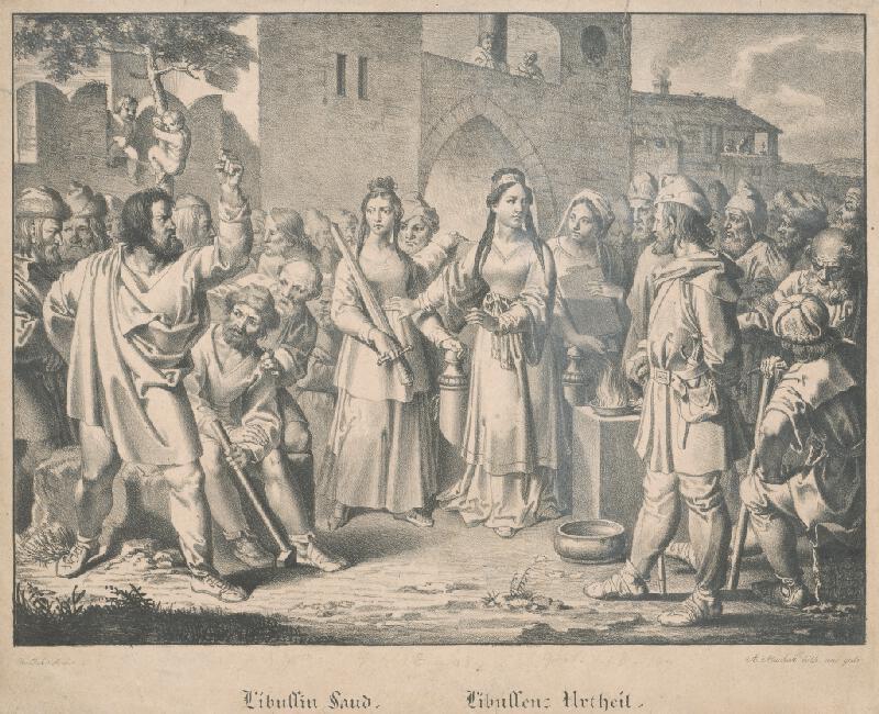 Joseph von Führich, Antonín Machek - Libušin súd
