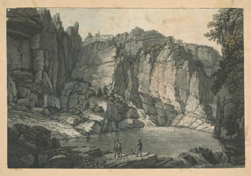 Stredoeurópsky autor z 19. storočia - Krajina so stafážou