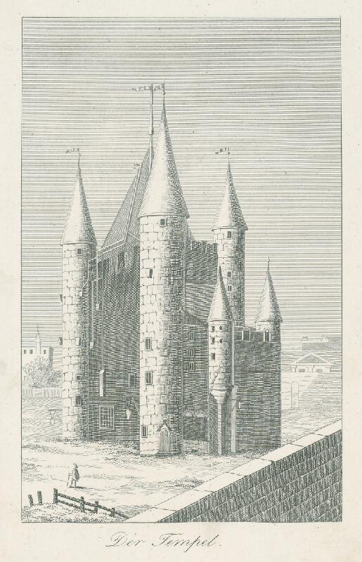 Nizozemský grafik z 19. storočia - Temple