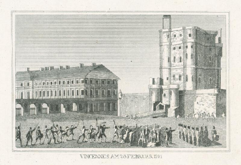 Nizozemský grafik z 19. storočia - Vincennes 28.februára 1791