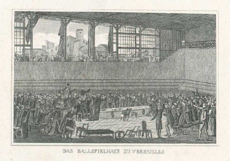 Nizozemský grafik z 19. storočia - Herňa vo Versailles