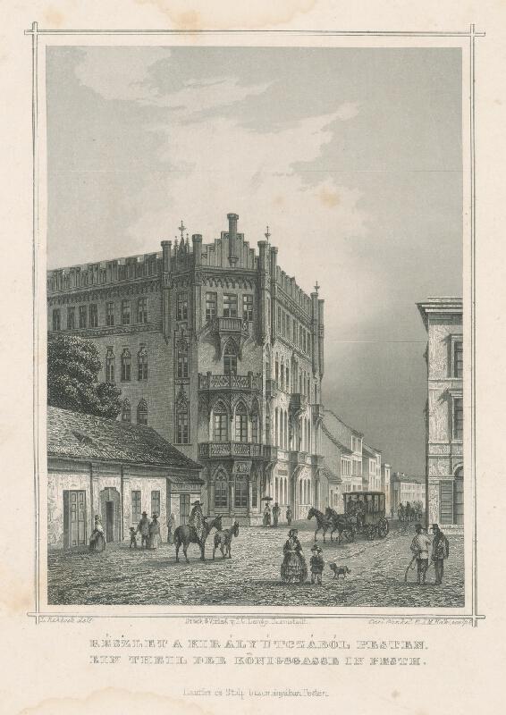 Ludwig Rohbock, K.  Gunkel, Joseph Maximilian  Kolb - Kráľovská ulica v Pešti