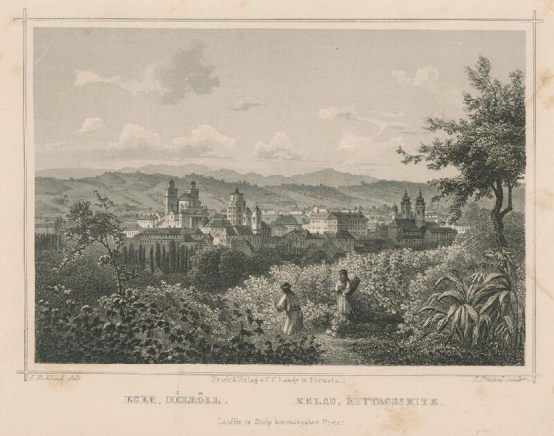 Ludwig Rohbock, Johann Gabriel Friedrich Poppel - Eger z južnej strany