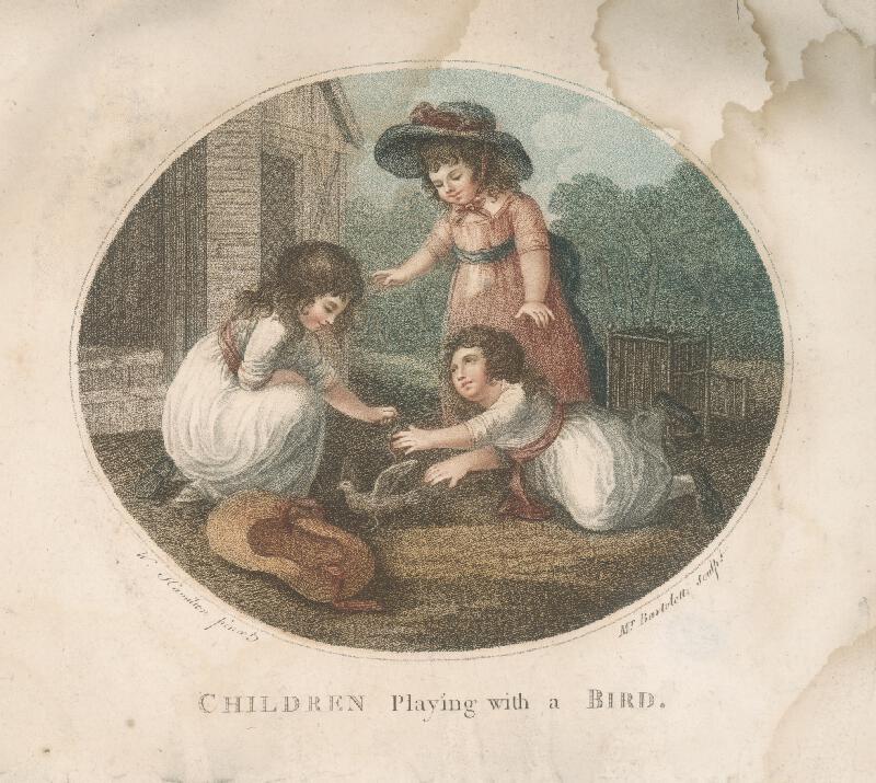Francesco Bartolozzi, Cesare Bertolotti, Wiliam Hamilton - Deti hrajúce sa s vtákom