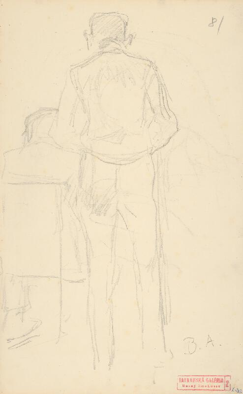 Andor Borúth - Náčrt stojacej mužskej postavy