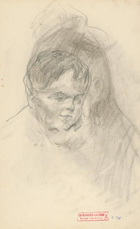 Andor Borúth - Škica k detskému portrétu