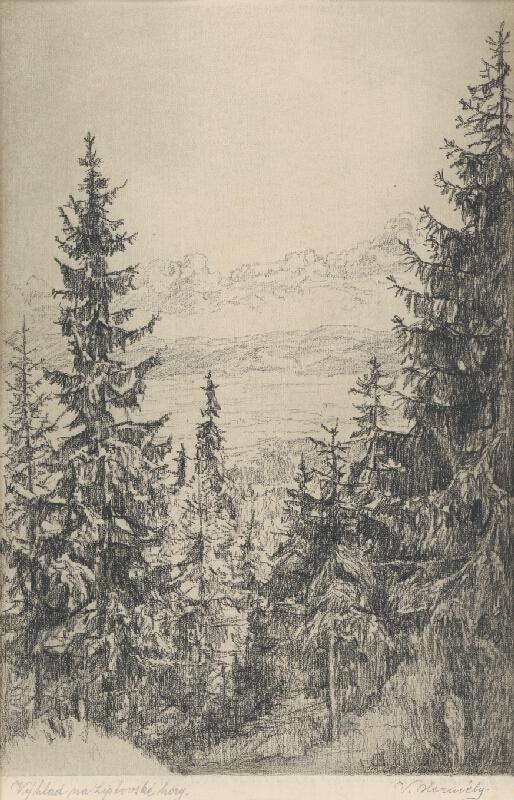 Viktor Hermély - Výhľad na Liptovské hory