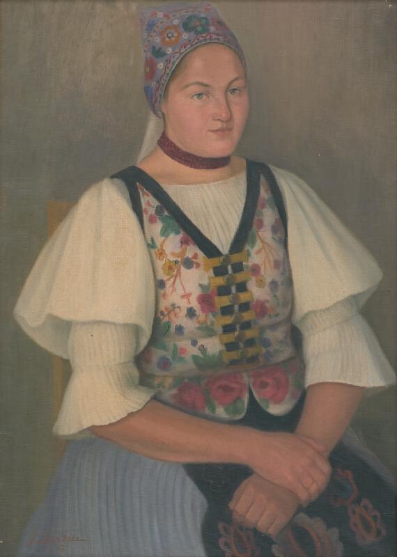 Jozef Satin - Dievča v kroji