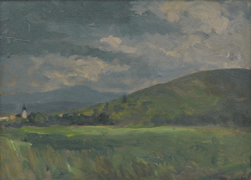 Andor Borúth - Tatranská krajina s vežou