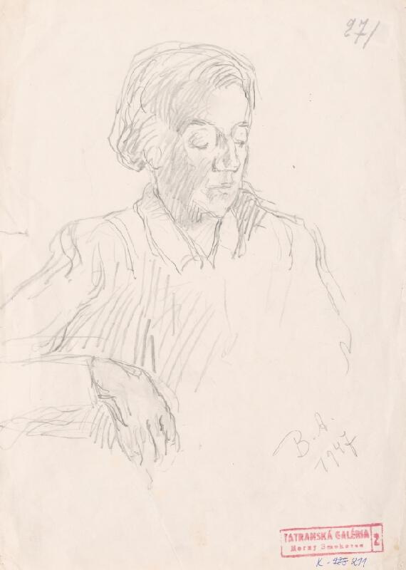 Andor Borúth - Škica k ženskému portrétu