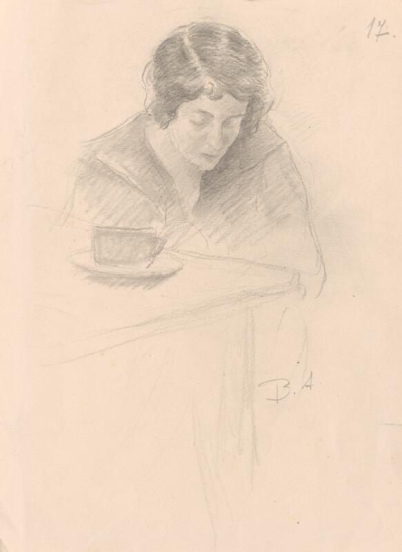Andor Borúth – Sediaca žena pri stole